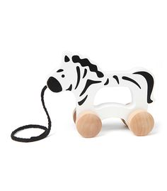 Zebra Pull Along From Hape from The Wooden Toybox