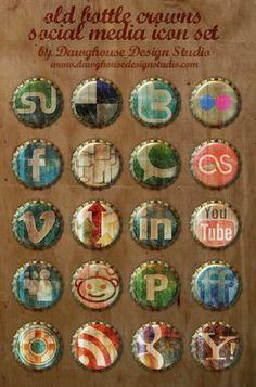 Dezenas de ícones sociais para download gratuitos.