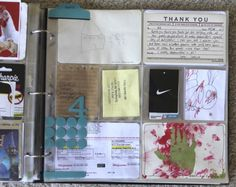 Ali Edwards - love that this section includes no photos, just ephemera and journaling.