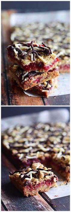 Oatmeal Chocolate Cranberry Bars Recipe