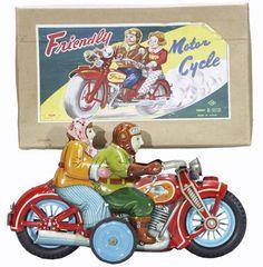 tin friendly motorcycle toys
