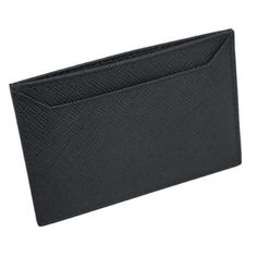 aba87be1e571 Prada Nero Black Saffiano Men's Leather Wallet Credit Card Holder Case Bill  2MC208
