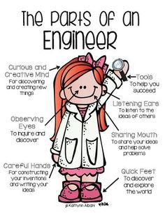 ENGINEER PARTS ELEMENTARY POSTER STEM - TeachersPayTeachers.com