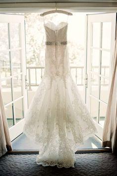 Lace Wedding Dress, www.agoodaffair.com