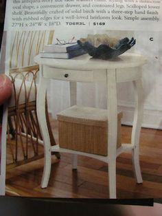 Dollhouse Miniature Furniture - Tutorials | 1 inch minis: How to make an occasional table from mat board.