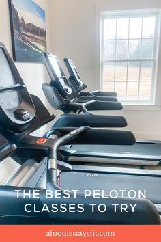 My favorite Peloton classes to do at home! If you're unfamiliar with Peloton, it's an online workout class subscription. They first started with a stationary bike only, but have expanded into floor workouts (like yoga, strength training and bootcamp) and even have a treadmill. Peloton also has a treadmill – the Tread – that I've heard great things about. Peloton workout plan to lose weight or for postpartum. Grab a list of the best Peloton classes and instructors. Amrap Workout, Treadmill Workouts, Floor Workouts, Running Workouts, At Home Workouts, Weight Lifting Tips, Weight Training For Runners, Running Injuries, Running Gear