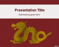 Chinese dragon powerpoint template is a free powerpoint template gold dragon powerpoint template toneelgroepblik Gallery