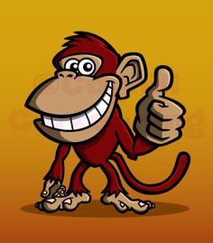https://flic.kr/p/8u1aaB | red Monkey mascot cartoon character | Monkey cartoon character mascot.