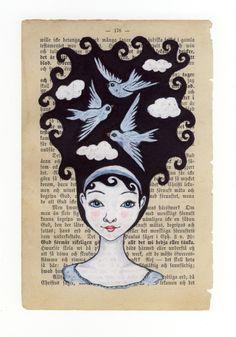 Mixed media illustration - Print