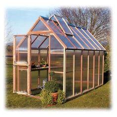 Redwood Greenhouse Kit (Mt Hood 6' x 12') at www.GrowOrganic.com #saferbrand #MyOrganicGardenWishList