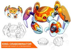Megaman X9 - King Crabominator by ultimatemaverickx on DeviantArt
