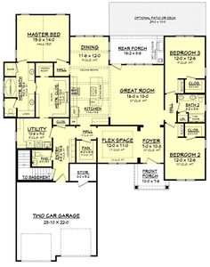 This craftsman style house plan has an amazing floor plan. The private master suite offers a large soaking tub and glass shower enclosure with a walk in closet.