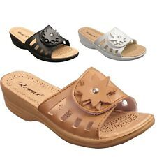 Femmes Nude Slip-on Slider Flip-Flop été Mules jelly Sandales Piscine Chaussures 3-8