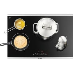 Bosch 208/240 Volts Smoothtop with 4 Burners in Black NIT8066SUC at appliancesconnection.com. The 800 induction cooktop is sleek in design, and features AutoChef® technology which maintains precise cooking temperatures. #potsensefeature #preciselectfeature #childlockfeature