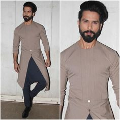 Shop shahid kapoor in light grey designer kurta , freeshipping all over the world , Item code Mens Indian Wear, Indian Groom Wear, Indian Men Fashion, Mens Fashion Suits, Wedding Kurta For Men, Wedding Dresses Men Indian, Wedding Dress Men, Gents Kurta Design, Boys Kurta Design