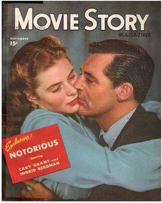"""Movie Story"" ~ Cary Grant & Ingrid Bergman September 1946"