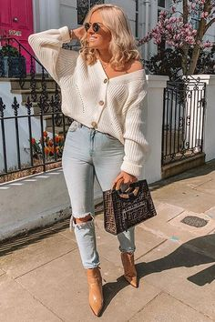 Cute Fall Outfits, Winter Fashion Outfits, Look Fashion, Stylish Outfits, Spring Outfits, Cute Jean Outfits, Fall Outfit Ideas, Everyday Casual Outfits, Cute Fall Clothes