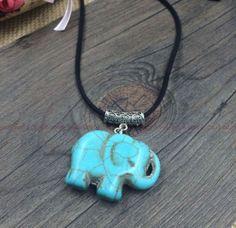 DIY-lovely-Ethnic-Style-turquoise-elephant-necklace-amp-pendant-Christmas-gift
