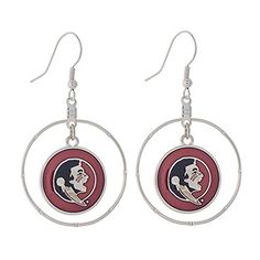 Congrats to the Florida State Seminoles Women's Softball Team for making it to the World Series! Florida State Seminoles Silver Tone Earrings with an Irid... http://www.amazon.com/dp/B01BKT1BUM/ref=cm_sw_r_pi_dp_PUptxb1QB47DH