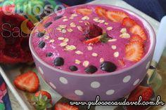 Vocês acreditam que esta delicia de Smoothie de Pitaya no Bowl necessita somente de 10 minutos para fazer?   #Receita aqui: http://www.gulosoesaudavel.com.br/2017/03/14/smoothie-de-pitaya-no-bowl/