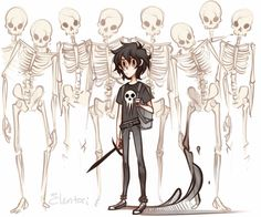 Where's Nico! he was suposed to get his ''secret weapon'' or what ever. * Nico comes by with a bunch of skeleton and a bag of mc donalds* Sup,,,,i got lunch.