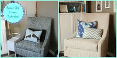 March Project Round-Up: Basic slipcover tutorial from homeyhomedesign.com