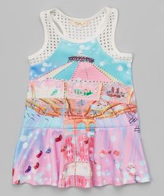 Another great find on #zulily! Blue & Pink Carousel Racerback Dress - Toddler & Girls by Baby Sara #zulilyfinds