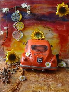 Driving into the African Sunset - Sweet Summer Collaboration - Cake by Fifi's Cakes Cookie Icing, Cupcake Cookies, Gravity Defying Cake, African Sunset, Beautiful Cakes, Amazing Cakes, African Theme, My Birthday Cake, Car Themes