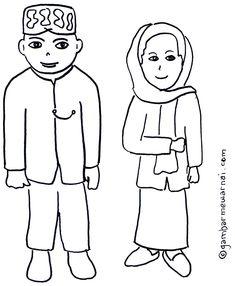 Gambar Mewarnai Anak Muslim Sholat Maiza Pinterest Muslim
