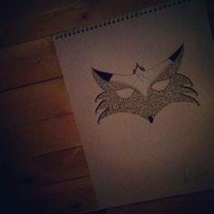 #inspiration #art #fox #renard #mandala