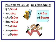 ΧΡΟΝΟΙ ΡΗΜΑΤΩΝ -ΚΑΤΑΛΗΞΕΙΣ Speech Language Therapy, Speech And Language, Learn Greek, School Organisation, Greek Language, School Worksheets, Language Lessons, School Staff, Home Schooling