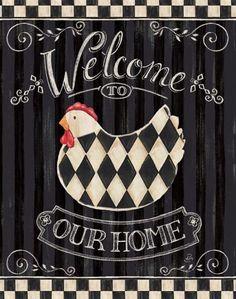A checkered chicken!    D.