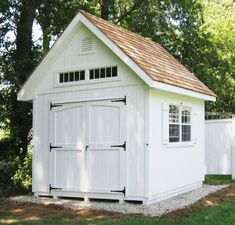 12 Beautiful Outdoor Wood Storage Sheds Outdoor storage & garden shed inspiration from boxwoodavenue Backyard Storage Sheds, Wood Storage Sheds, Storage Shed Plans, Wood Shed, Backyard Sheds, Outdoor Sheds, Cedar Shed, Patio Storage, Garden Storage Shed