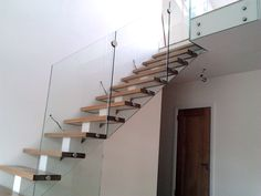 staircase with glass balustrade - Google Search