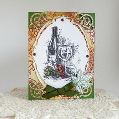 This card measures 4 1/4 x 5 1/2, is blank on the inside so you can add your own personal greeting and comes with a coordinating envelope.