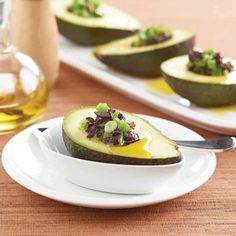 Avocado with Black Olives