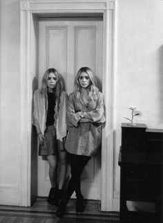 Mary-Kate and Ashley Olsen (in order, left to right)