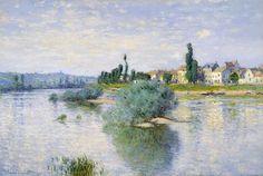 The Seine at Lavacourt - Claude Monet - WikiArt.org