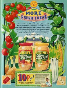 Heinz Spread -1986 (rchappo2002) Tags: food apple magazine tomato advertising spread corn cucumber ad sandwich 80s advert onion eighties 1986 1980s celery heinz adverts tvtimes