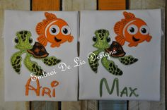 Personalized Finding Nemo with Nemo and by EmbroiDeLisDesigns