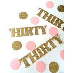 Deluxe Gold and Pink Birthday confetti, confetti, glitter confetti, party decorations, 30th birthday