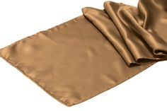 Satin Table Runner - Iced Coffee/Mocha ● As Low as $1.49 ● Available from www.cvlinens.com