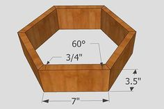 Woodworking project: Wood (Honeycomb) Hexagon Shelves Dimensions for hexagon wall shelf.Dimensions for hexagon wall shelf. Easy Woodworking Projects, Popular Woodworking, Woodworking Jigs, Woodworking Furniture, Diy Wood Projects, Canadian Woodworking, Woodworking Equipment, Woodworking Magazine, Woodworking Classes