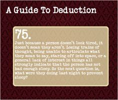 A Guide To Deduction — Suggested by: inkerss
