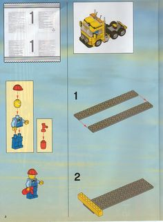 LEGO 7900 Heavy Loader instructions displayed page by page to help you build this amazing LEGO City set Lego Guns, Lego Truck, Lego City Sets, Lego Design, Lego Group, Lego Projects, Lego Stuff, Lego Instructions, Lego Building