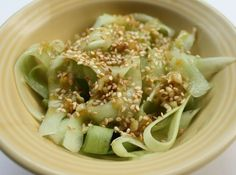 Cucumber Ribbons #Salad with Lemongrass dressing #glutenfree #vegan #healthy