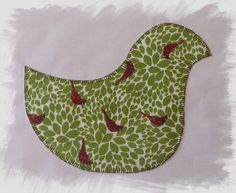 Christmas Bird In Hoop Naive Applique for 8 x 12 Hoops - Machine Embroidery Design for sale at https://www.southerncrossembroidery.com/market/christmas-bird-in-hoop-naive-applique-for-8-x-12-hoops/