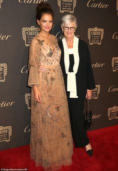 Mother-daughter time: Katie Holmes posed with her mother Kathleen Holmes at the…