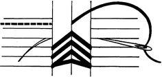 Herringbone Link Stitch (bookbinding)