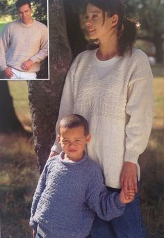 65f2274379c36b Knitting Pattern Boys Girls Ladies  Mens Sweater Jumper Tunic Crew Roll V  Neck DK  Light Worsted size 22-44in 56-112cm
